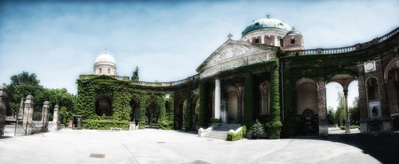 The Mirogoj cemetery in Zagreb, Croatia.