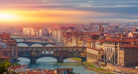 Ponte Vecchio Bridge over Arno river - Florence, Italy