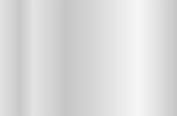 Realistic silver gradient texture. Shiny metal foil gradient. Vector illustration