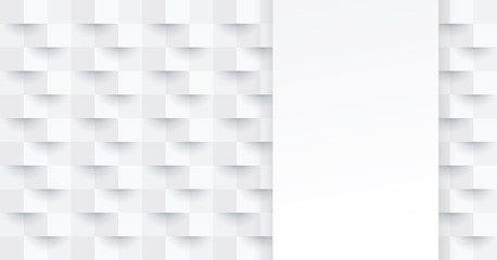 White abstract background vector with blank space for text.