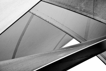 fabric tensile roof - monochrome