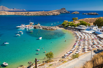 Lindos bay and the beach
