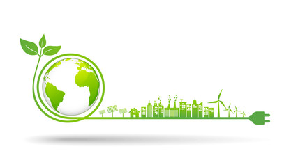 World environment and sustainable development concept, vector illustration