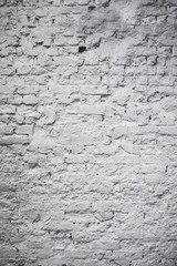 old white brick wall in loft style