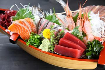 fresh sashimi assorted boat