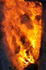fire/ burning wood