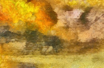 Large colorful splashes of paint on canvas, unique design elements, original grunge texture in very high resolution, deep colors digital background, textured oil template.