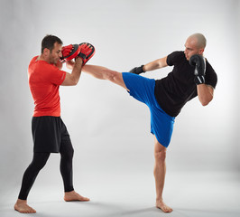 Kickbox fighter and coach training