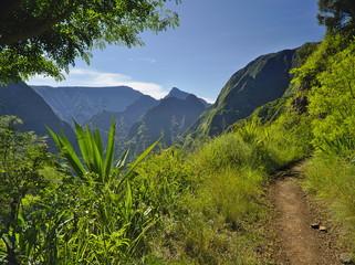 Hiking on wonderful Reunion Island trails