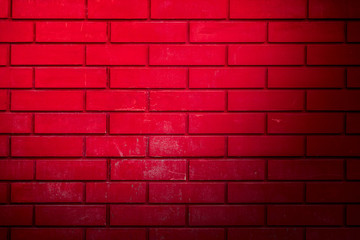 Red brick wall as abstract background