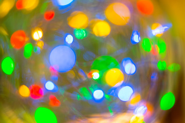 Picture LED light bokeh for blurred abstract background