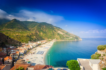 Panoramic view on Scilla beaches in Calabria