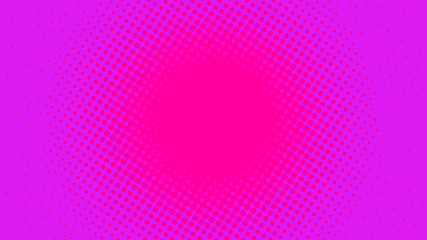 Abstract concept magenta pop art background with retro haftone dots design. Vector comic template for empty bubble, sale banner, illustration comic book design.