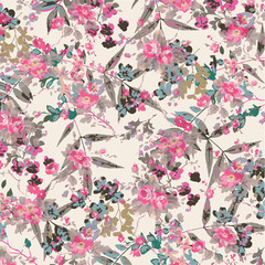 Floral background for textiles.