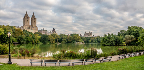 At the lake in Central Park