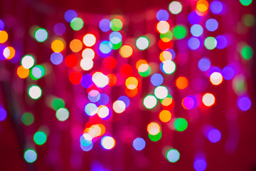 Abstract Christmas background. Blurred background with lights