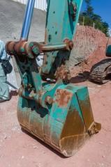 Shovel of a backhoe