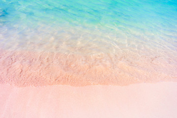 Pink sand beach of famous Elafonisi