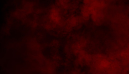 Red smoke texture on islotaed background. Misty background effect