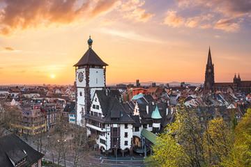 Sunset in Freiburg im Breisgau, Germany