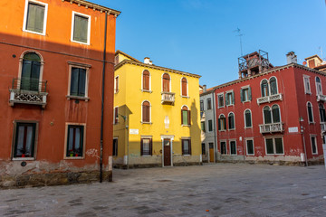 Italy, Venice, typical street between the buildings