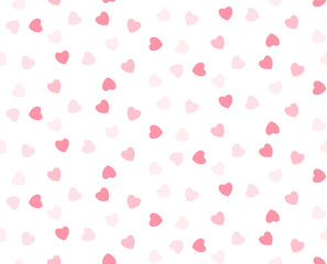 Pink hearts seamless girlish background. Suitble for prints, wrapping and backgrounds