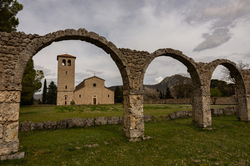Rocchetta a Volturno, Isernia, Molise. Abbazia benedettina di San Vincenzo al Volturno