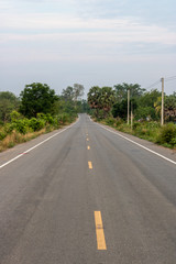 Road and natural scenery