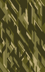 Abstract Vector Military Camouflage Background for Army Clothing.