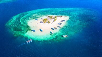 Beautiful aerial view of Gili Kedis island