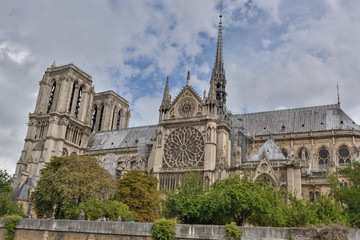 Notre Dame Paris France Fire