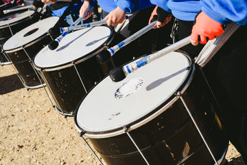 Detail of bass sound drums.