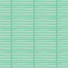 Hand drawn stripes graphic seamless pattern. Sketchy organic horizontal  texture vector illustration. Modern mint green wallpaper graphic design. Scandi scribble lines. Home decor textile background