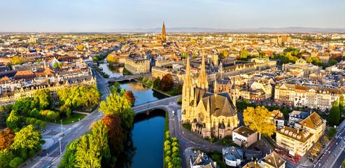 Kościół św. Pawła i katedra w Strasburgu - Alzacja, Francja