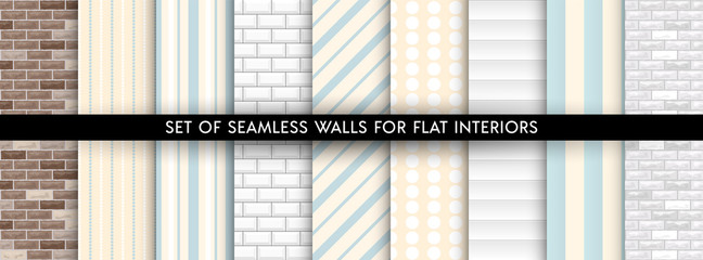 Set of vector walls pattern