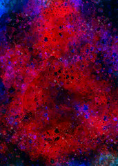Dark Abstract Paint Splashes And Dots Background