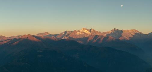 evening mountain panorama
