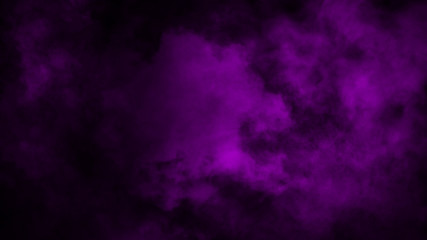 Abstract purple smoke mist fog on a black background. Design element.