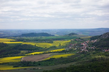 Landscape view of Palava in South Moravia, Czech republic.