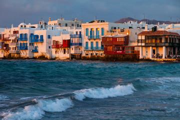 Barrio Pequeña Venecia, Isla de Mykonos, Grecia