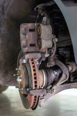 Brake caliper without brake pads