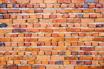 Red brick wall, textural background for your design