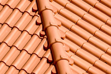 red roof tiles, in Lisbon Capital City of Portugal