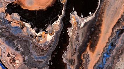 orange black natural decay vivid colorful abstract