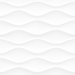 Abstract white wavy 3d texture background.  Seamless texture.