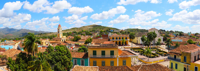 Panoramic view of old town of Trinidad, Cuba