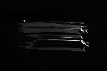 mascara texture with black background