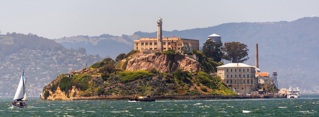 Alcatraz island at San Francisco Bay