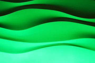 wall background waves contrast green