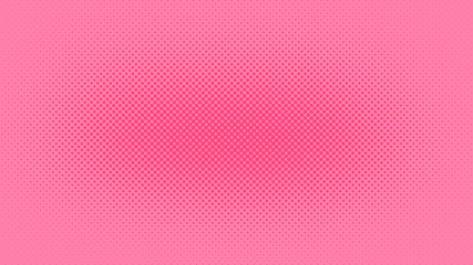 Pink pop art background in retro comic style with halftone design